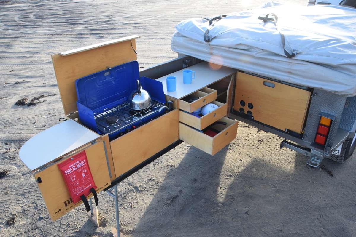 Make Trax Camper Trailer Kitchen