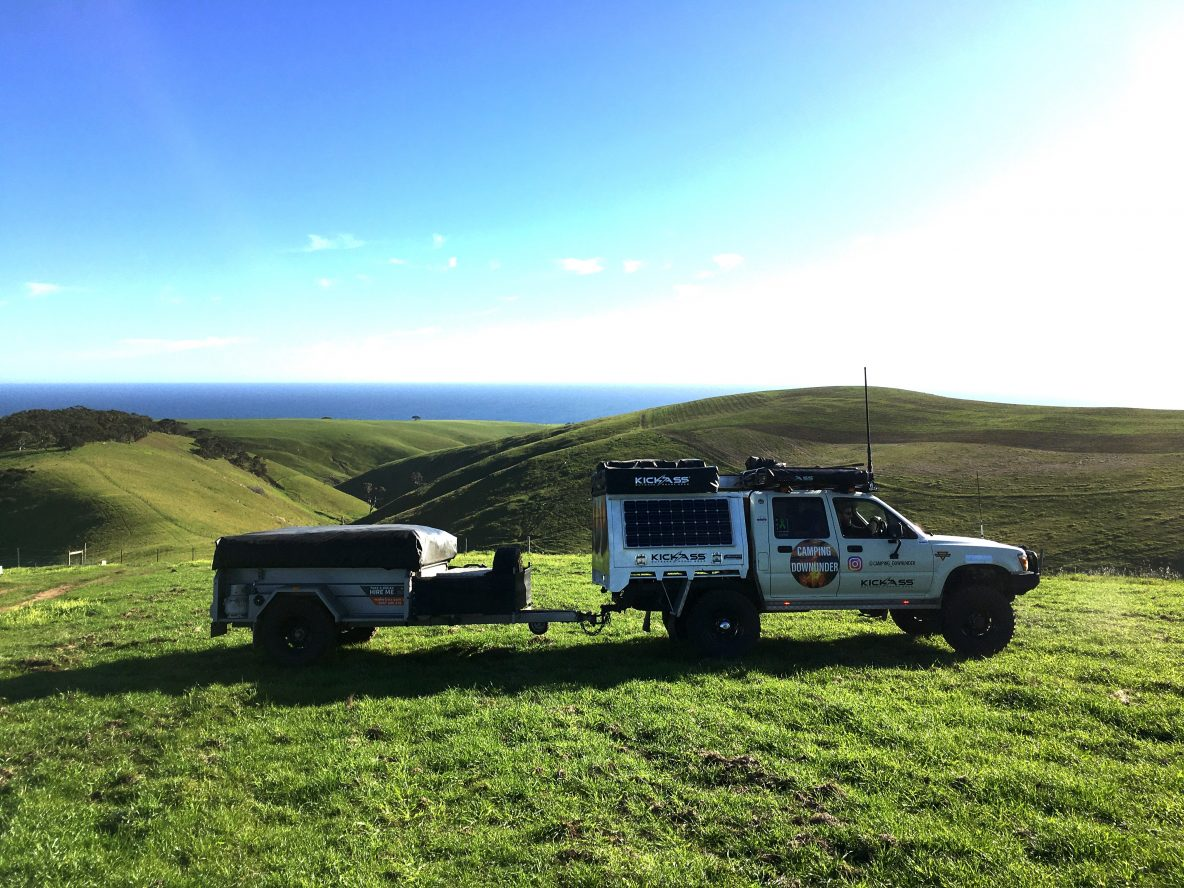 Camping Downunder Hilux and Make Trax Johnno's Camper view of the Fleurieu