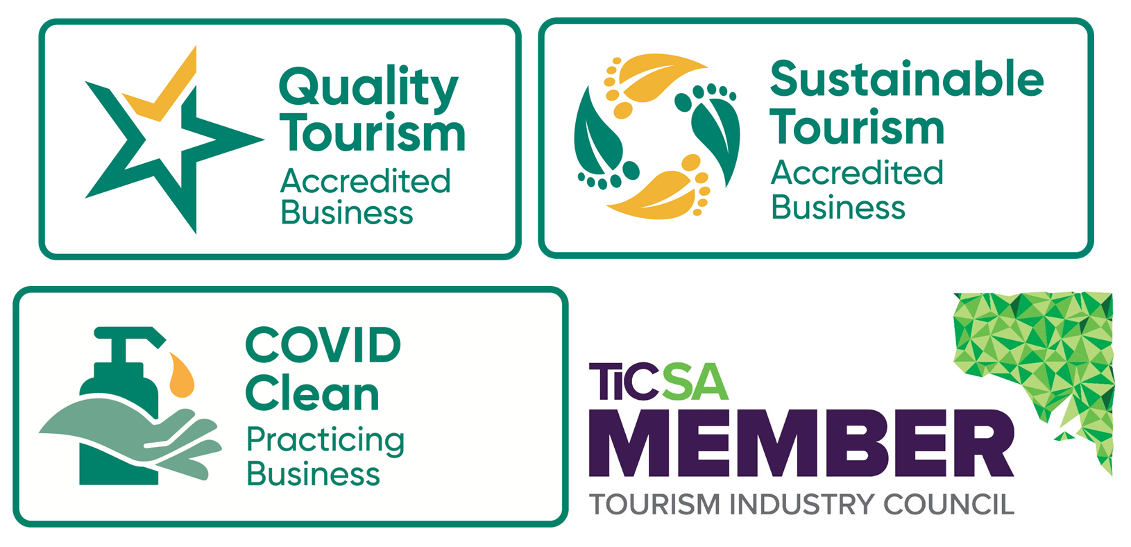 Quality Tourism & Sustainable Tourism Accredited!